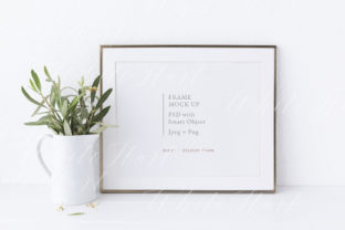 8x10 Frame Mockup Graphic Product Mockups By White Hart Design Co.