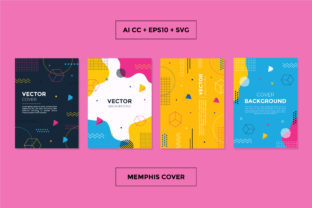 Abstract Trendy Memphis Geometric Cover Graphic Graphic Templates By abworks