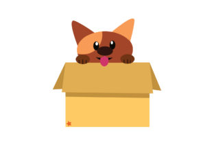 Adorable Dog in the Box Graphic Illustrations By harunikaart