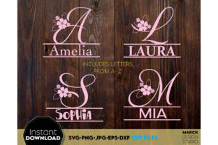 Alphabet Split Monogram Bundle Letters Graphic Crafts By March Design Studio