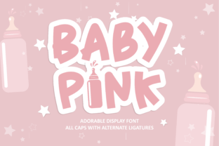 Print on Demand: Baby Pink Display Font By arukidz.fl
