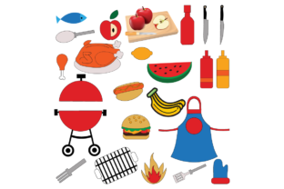 Barbeque Set - Illustration Graphic Illustrations By naemislamcmt