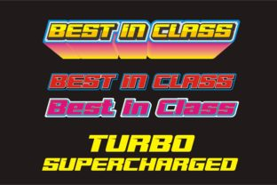 Print on Demand: Best in Class Display Font By siinsticker