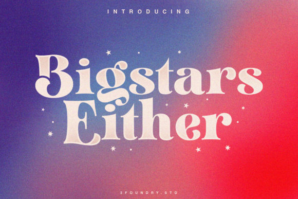 Bigstars Either Font