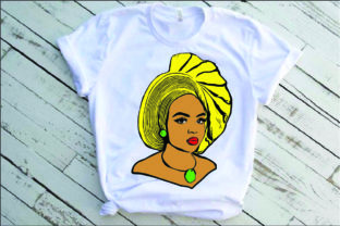 Black Woman Nubian Princess Queen Graphic Illustrations By Yayasvg