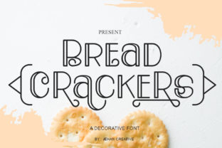 Print on Demand: Bread Crackers Display Font By jehansyah251