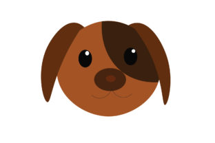 Brown Dog Head Graphic Illustrations By harunikaart