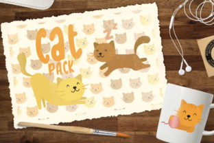 Cat Pack Graphic Illustrations By Firefly Designs