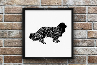 Cavalier King Charles Spaniel Mandala Graphic Crafts By Designs of Whimsy