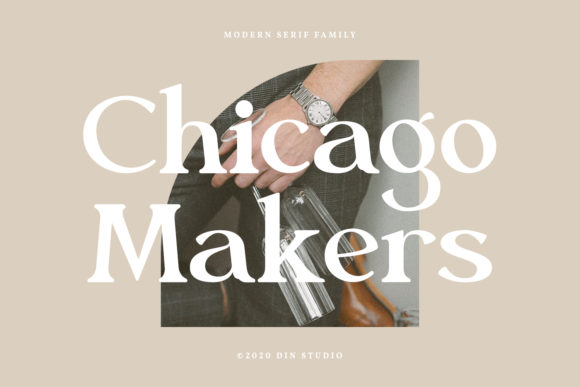 Print on Demand: Chicago Makers Serif Font By Din Studio
