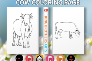Print on Demand: Cow Coloring Page for Kids Graphic Coloring Pages & Books Kids By Sei Graph Arts
