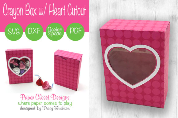 Print on Demand: Crayon Box with Heart Graphic 3D SVG By rushton_tracy