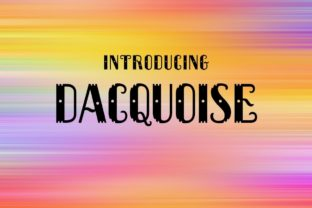 Print on Demand: Dacquoise Decorative Font By Typodermic 1