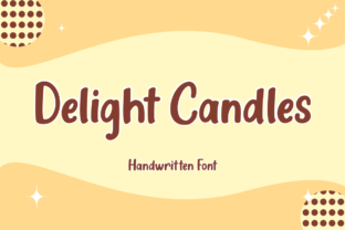 Print on Demand: Delight Candles Display Font By Fikryal Studio