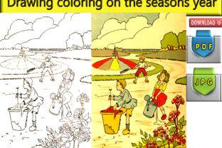 Print on Demand: Drawing Coloring on the Seasons Year Boy Graphic Coloring Pages & Books Kids By kdp Edition