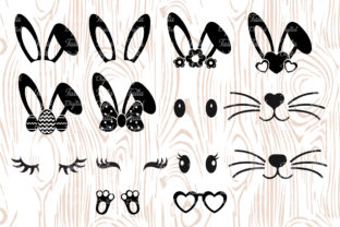 Easter Bunny Kit Graphic Print Templates By Taita Digital