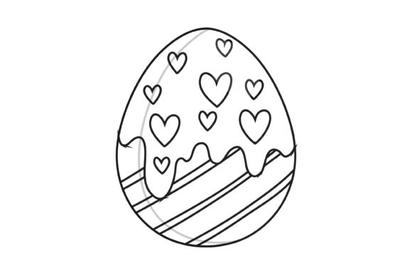 Easter Egg Line Graphic Graphic Illustrations By garnetastudio