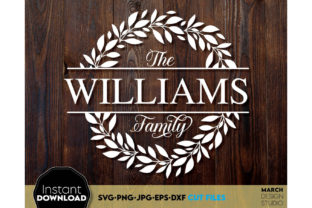 Family Name Last Name Monogram Frame Graphic Crafts By March Design Studio