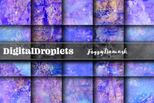 Foggy Damask | Collection Graphic Backgrounds By digitaldroplets