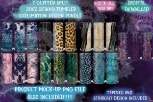 Print on Demand: Glitter Sublimation Tumbler Wrap Bundle Graphic Crafts By Susan Alajoki
