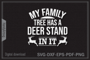 Hunting Family Tree Has a Deer Stand Graphic Crafts By HandyArtSvg