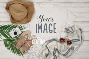 Ladies Summer Beach T-Shirt Mockup Graphic Product Mockups By Mockup Central