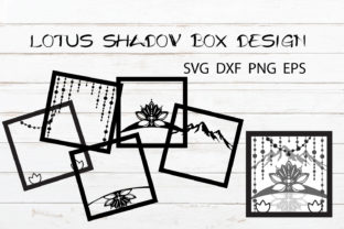 Lotus Shadow Box Template Zen Light Box Graphic Crafts By KaSia Design 1