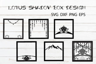 Lotus Shadow Box Template Zen Light Box Graphic Crafts By KaSia Design 2