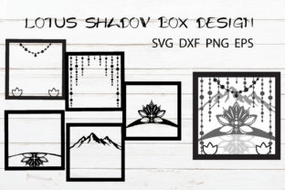 Lotus Shadow Box Template Zen Light Box Graphic Crafts By KaSia Design 3