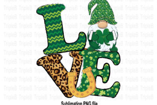 Print on Demand: Love Gnome St Patricks Day Sublimation 2 Graphic Illustrations By TripleBcraft