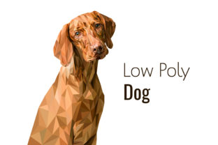 Low Poly Dog Graphic Illustrations By Manuchi