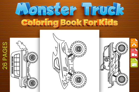 Print on Demand: Monster Truck Coloring Pages for Kids - KDP Graphic Coloring Pages & Books Kids By Trend Color