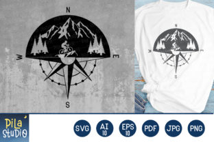 Mountain Bike Compass SVG File Graphic Illustrations By Pila Studio
