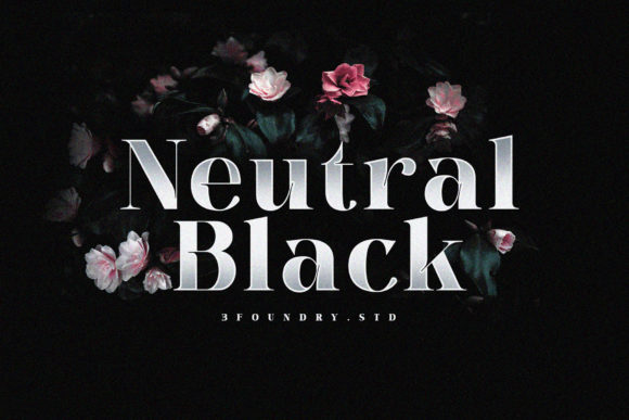 Print on Demand: Neutral Black Serif Schriftarten von 3Foundrystd