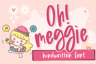 Print on Demand: Oh! Meggie Display Font By dmletter31