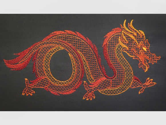 Oriental Dragon Motif Embroidery Download