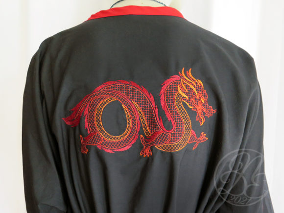Oriental Dragon Motif Embroidery Item