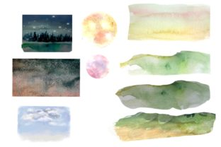 Print on Demand: Owls in the Forest Watercolor Clipart Graphic Illustrations By Marine Universe 4