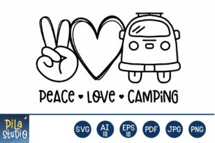Peace Love Camping Svg File Graphic Illustrations By Pila Studio