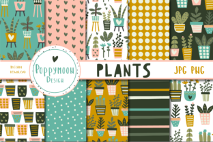 Print on Demand: Plants Paper Set Graphic Patterns By poppymoondesign