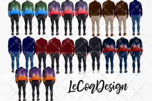 Print on Demand: Plus Size Man Male Clipart Graphic Illustrations By LeCoqDesign 3