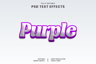 Purple 3D Text Effect Graphic Layer Styles By mdjomir4200