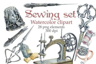 Sewing Clipart Graphic Illustrations By Marine Universe