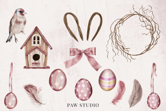 Spring Holiday Womens Day Easter Clipart Graphic Preview
