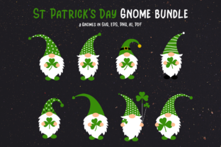 Print on Demand: St Patrick's Day Gnome Bundle Graphic Crafts By Pixtordesigns