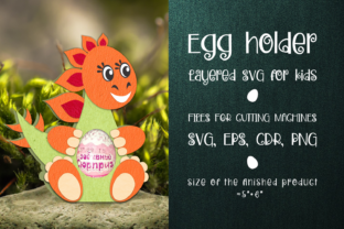 Print on Demand: Stegosaurus - Chocolate Egg Holder Svg Graphic 3D SVG By Olga Belova