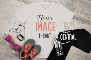 T-Shirt Fitness Yoga Workout Mockup Graphic Product Mockups By Mockup Central
