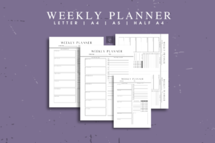 Weekly Planner Printable Template Graphic Print Templates By The Grateful Studio