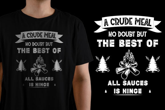 A Crude Meal No Doubt the Best of All Graphic Print Templates By HASSHOO