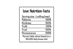 Love Nutrition Facts Valentine's Day Craft Cut File By Creative Fabrica Crafts